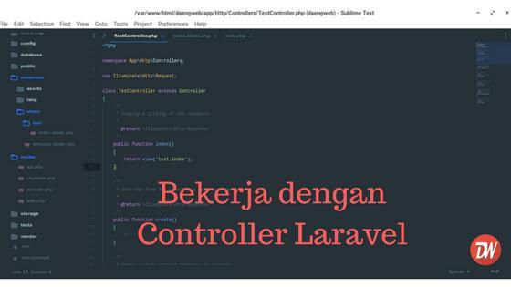 Bekerja Dengan Controller Laravel