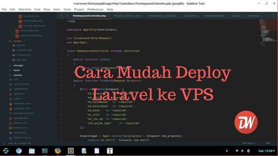 Cara Mudah Deploy Laravel ke VPS