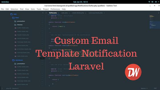 Custom Email Template Notification Laravel