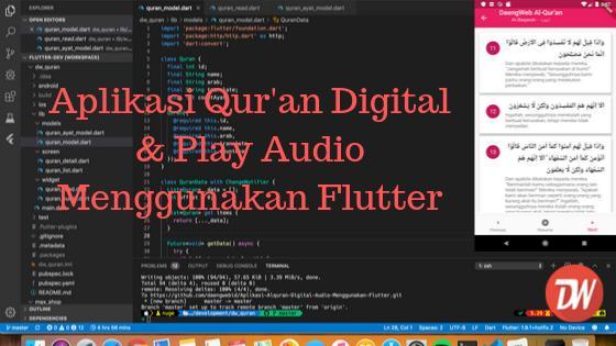 Aplikasi Qur'an Digital & Play Audio Menggunakan Flutter