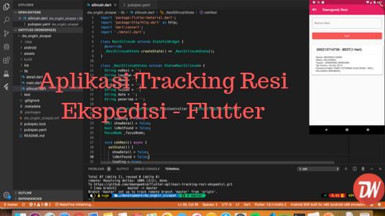 Aplikasi Tracking Resi Ekspedisi - Flutter