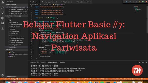 Belajar Flutter Basic #7: Navigation Aplikasi Pariwisata