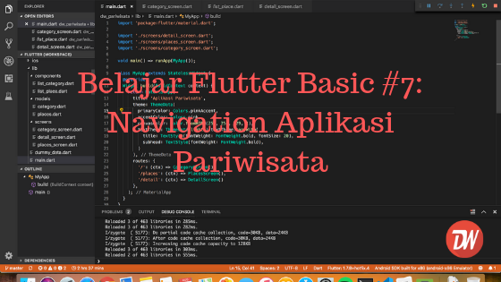 Belajar Flutter Basic #4: Form & Validation - Daeng Web