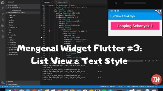 Mengenal Widget Flutter #3: List View & Text Style