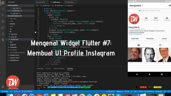 Mengenal Widget Flutter #7: Membuat UI Profile Instagram