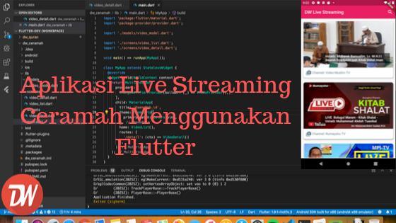 Aplikasi Live Streaming Ceramah Menggunakan Flutter