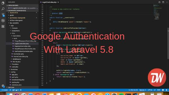 Google Authentication With Laravel 5.8