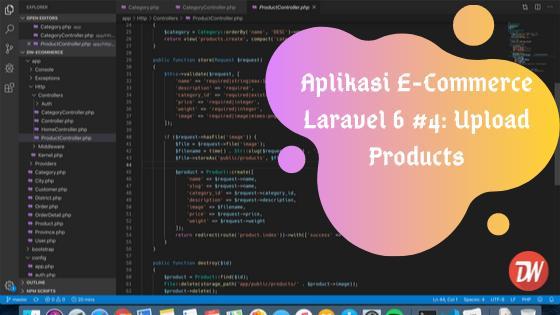 Aplikasi E-Commerce Laravel 6 #4: Upload Products