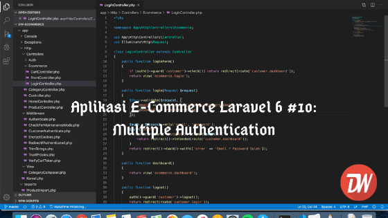 Aplikasi E-Commerce Laravel 6 #10: Multiple Authentication