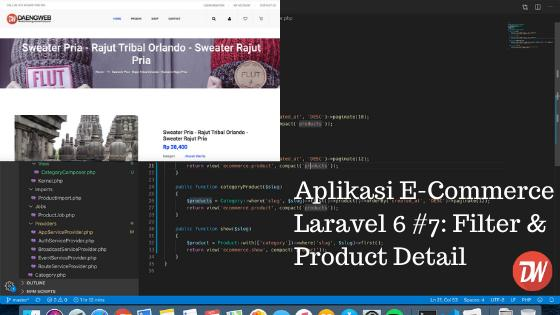 Aplikasi E-Commerce Laravel 6 #7: Filter & Product Detail
