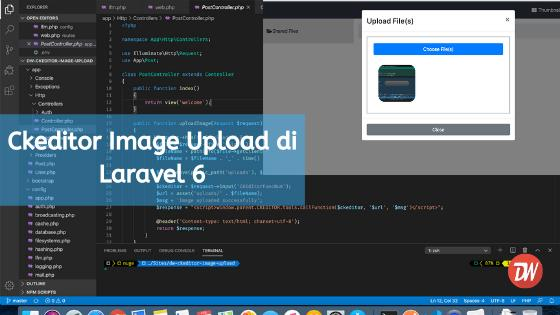 Ckeditor Image Upload di Laravel 6