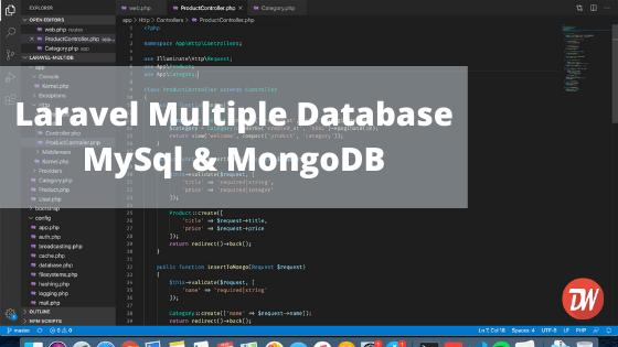 Laravel Multiple Database MySql & MongoDB