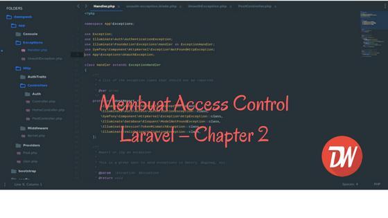 Membuat Access Control Laravel – Chapter 2