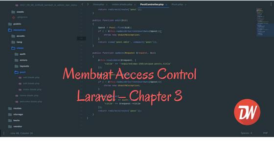 Membuat Access Control Laravel – Chapter 3