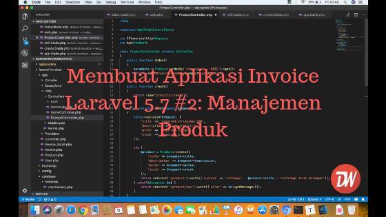 Membuat Aplikasi Invoice Laravel 5.7 #2: Manajemen Produk