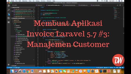 Membuat Aplikasi Invoice Laravel 5.7 #3: Manajemen Customer
