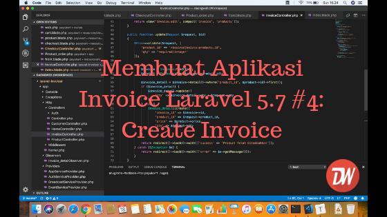 Membuat Aplikasi Invoice Laravel 5.7 #4: Create Invoice