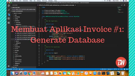 Membuat Aplikasi Invoice Laravel 5.7 #1: Generate Database