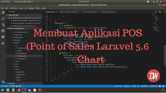 (Part 9) Membuat Aplikasi POS (Point of Sales Laravel 5.6 - Chart