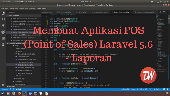 (Part 8) Membuat Aplikasi POS (Point of Sales) Laravel 5.6 - Laporan
