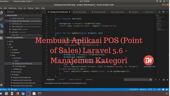 (Part 2) Membuat Aplikasi POS (Point of Sales) Laravel 5.6 - Manajemen Kategori