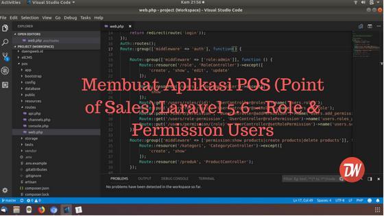 (Part 5) Membuat Aplikasi POS (Point of Sales) Laravel 5.6 - Role & Permission Users