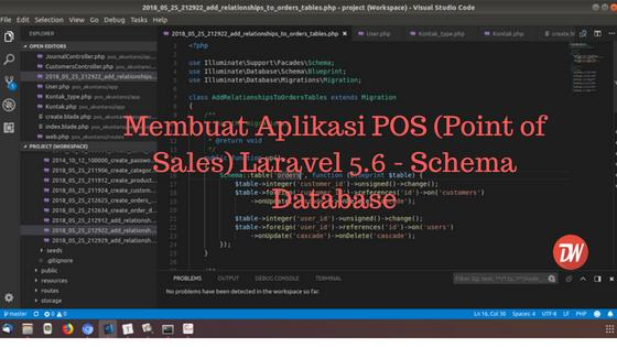 (Part 1) Membuat Aplikasi POS (Point of Sales) Laravel 5.6 - Schema Database