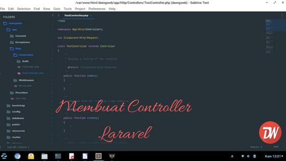 Membuat Controller pada Laravel
