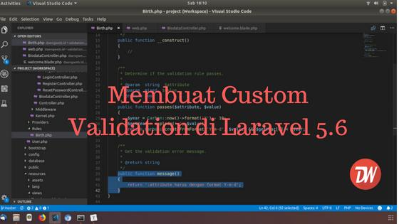 Membuat Custom Validation di Laravel 5.6