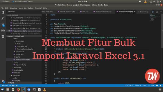 Membuat Fitur Bulk Import Laravel Excel 3.1