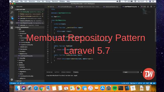 Membuat Repository Pattern Laravel 5.7