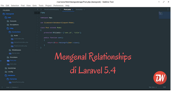 Mengenal Relationships di Laravel 5.4