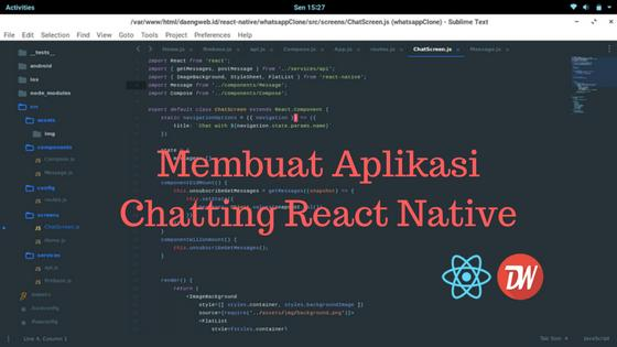 Membuat Aplikasi Chatting React Native