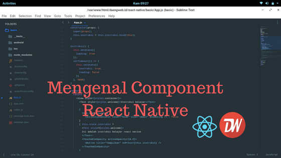 Mengenal Component React Native