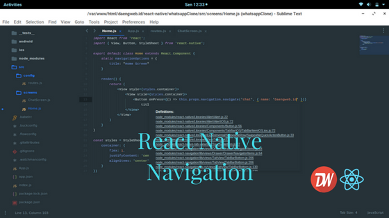 React Native Navigation