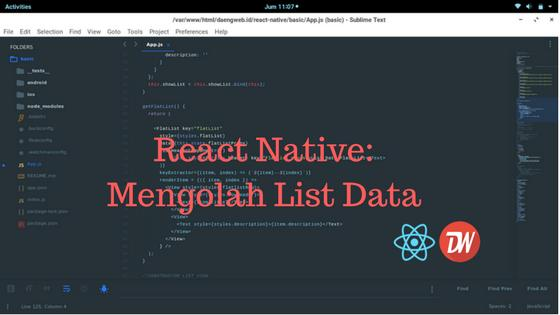React Native: Mengolah List Data