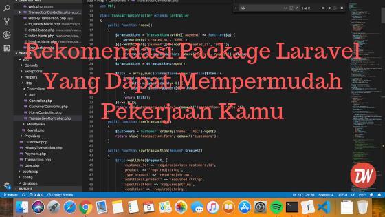 Rekomendasi Package Laravel Yang Dapat Mempermudah Pekerjaan Kamu