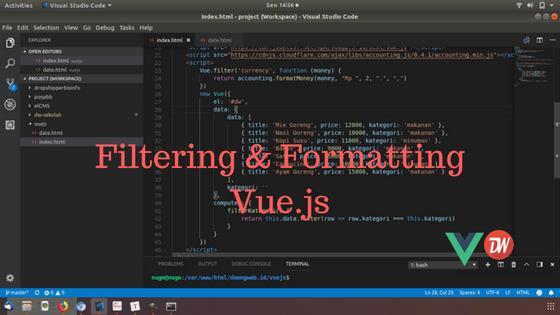 Filtering & Formatting Vue.js