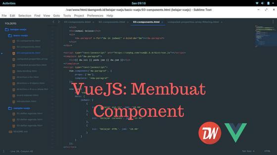 VueJS: Membuat Component