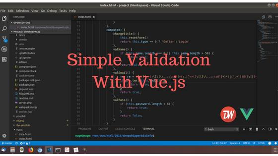 Simple Validation With Vue.js