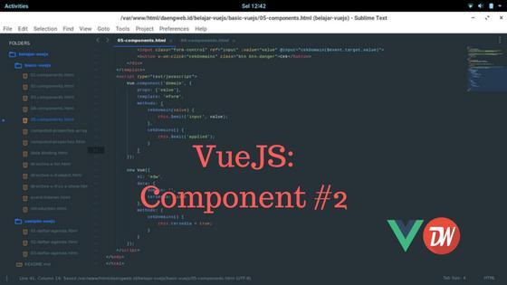VueJS: Component #2
