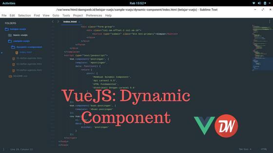 VueJS: Dynamic Component