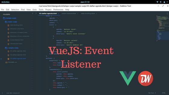 VueJS: Event Listener