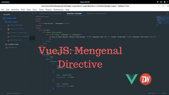 VueJS: Mengenal Directive