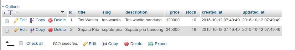 import laravel excel phpmyadmin