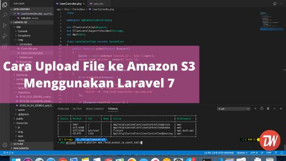 Cara Upload File ke Amazon S3 Menggunakan Laravel 7