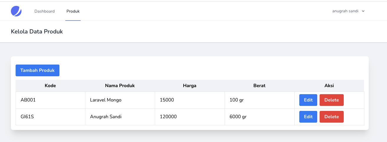 CRUD Laravel 8 dan InertiaJs - show data