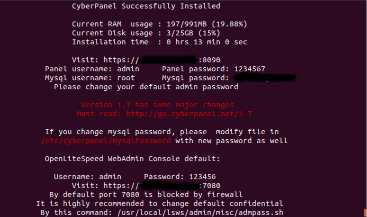 install cyberpanel