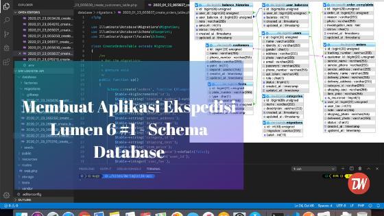 Membuat Aplikasi Ekspedisi Lumen 6 #1: Schema Database
