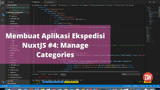 Membuat Aplikasi Ekspedisi NuxtJS #4: Manage Categories